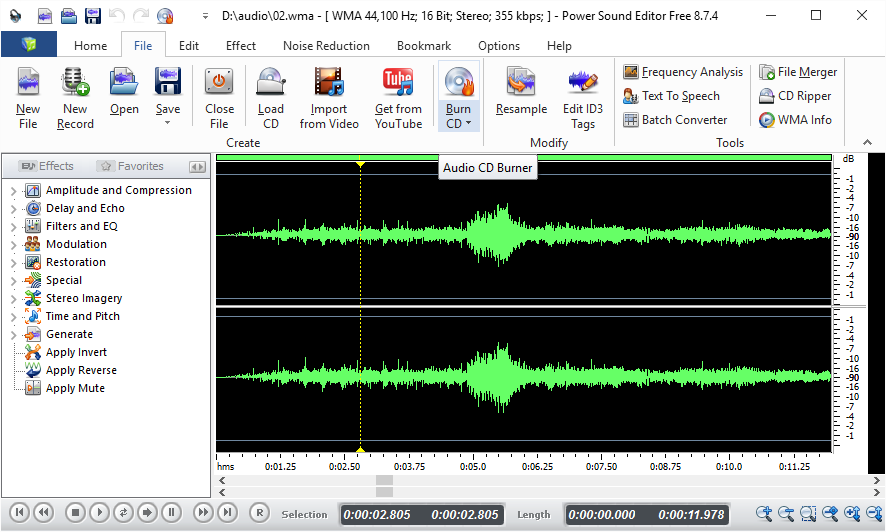 online audio editor free no download