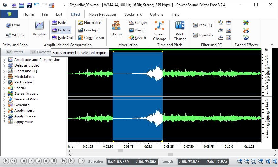 Best Sound Editor Software 2019 - Free for Windows - Power