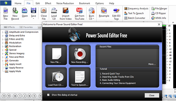 Top 10 Free Sound Editor Software - Power Sound Editor Free